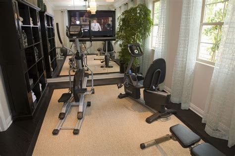 home gym design ideas   recumbent exercise