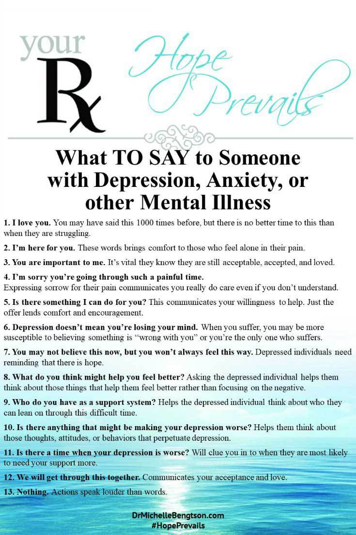 What to Say When a Loved One is Depressed | Dr. Michelle ...