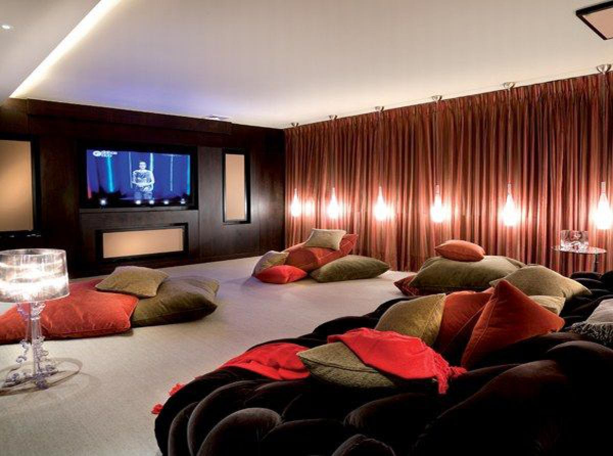 Great Home Theater Room   My Decorative