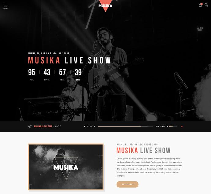 Musika - Música Plantilla PSD de la banda