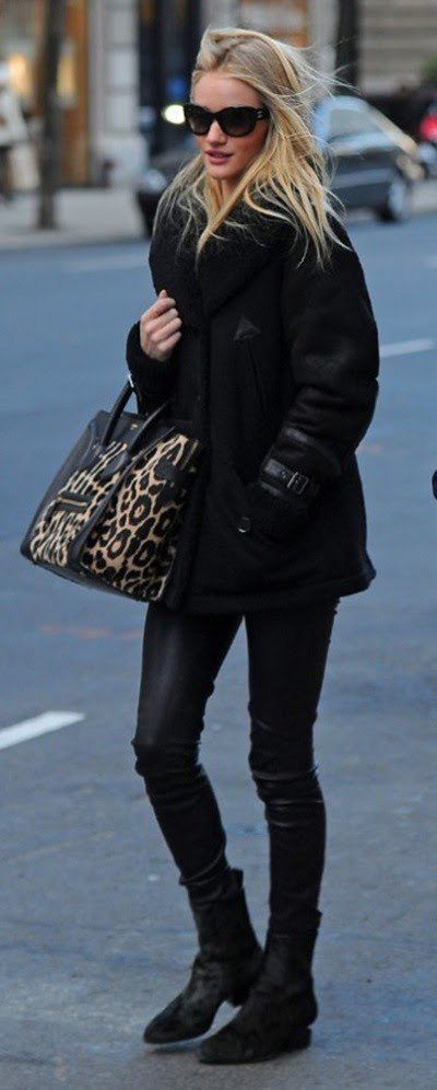 9 Rosie Huntington-Whiteley wearing Burberry outerwear in New York 23rd January 2013-2
