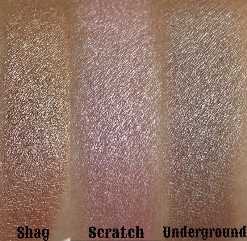 urban decay deluxe shadow box swatches