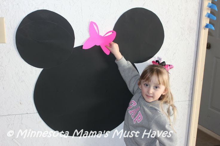 Baby Minnie Party Decorations   DIY Minnie Mouse Birthday Party Games! Pin The Bow on Minnie Mouse!