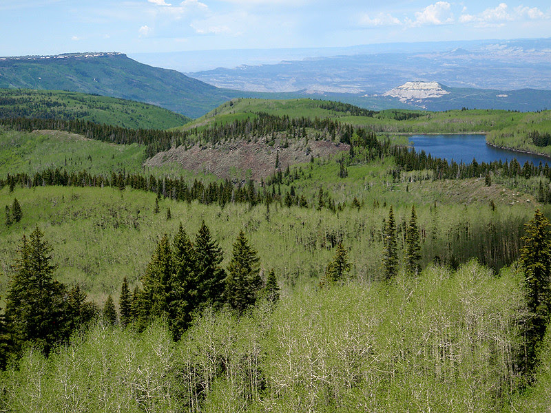 The view west from Skyway, Grand Mesa, Colorado.
