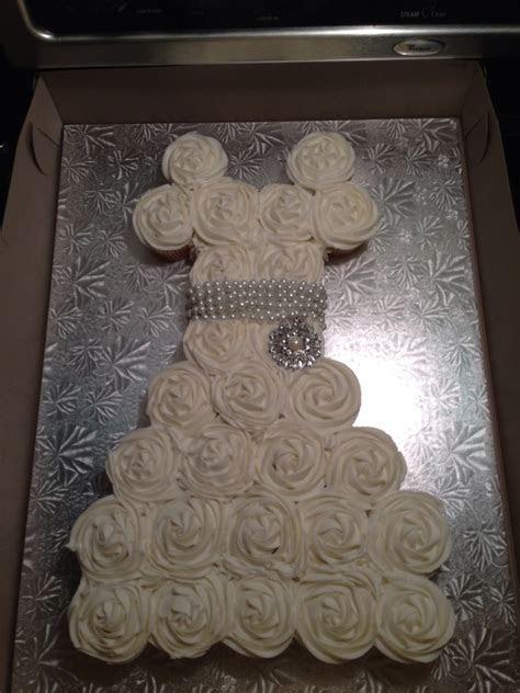 Wedding Dress Cupcake Cake/ Bridal Shower   CakeCentral.com