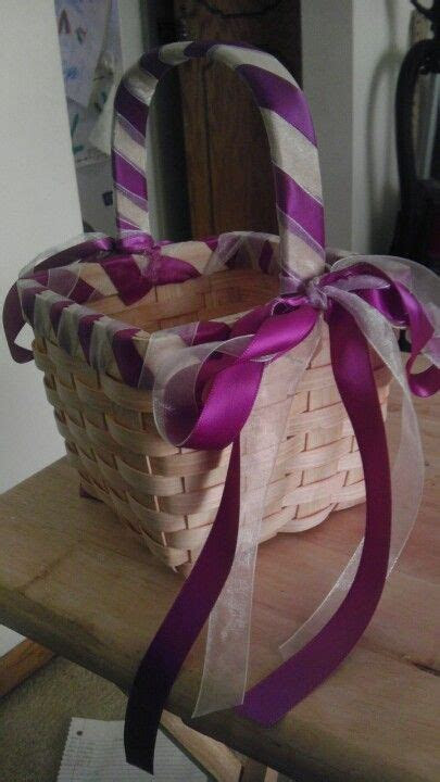 Cheap, simple DIY flower girl basket that I made   Wedding