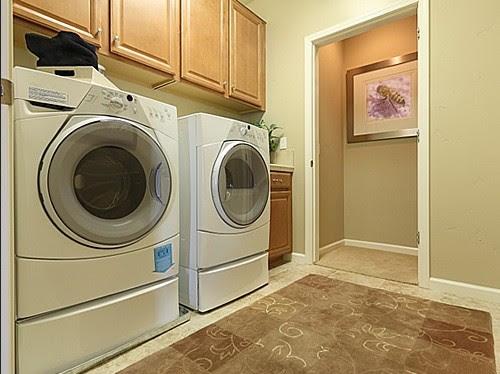 Porcelain tile for durable laundry room