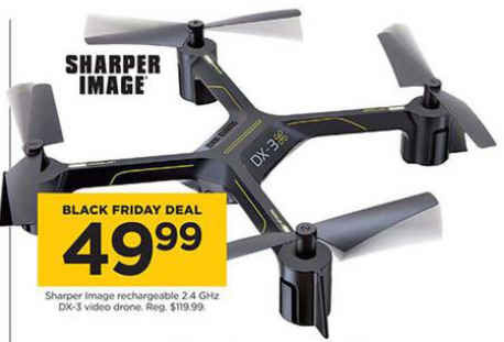 Black Friday Deal Sharper Image Rechargeable 24 Ghz Dx 3 Video Drone
