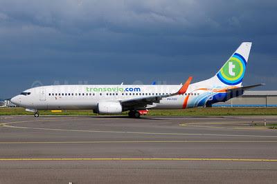 Transavia Airlines (Transavia.com) (Netherlands) Boeing 737-8KN WL PH-FDD (msn 40234) (Flydubai colors) AMS (Ton Jochems). Image: 908592.