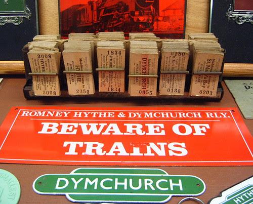 Beware of Trains Sign - Romney, Hythe & Dymchurch Railway