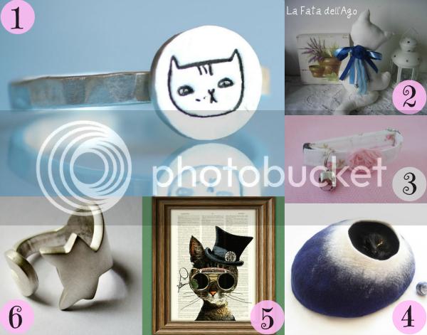 ahopping a tema gatto, gatti, anello fatto a mano collare shabby chic