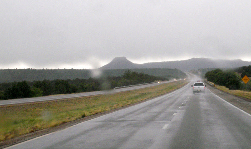 A deluge just south of Las Vegas , New Mexico.