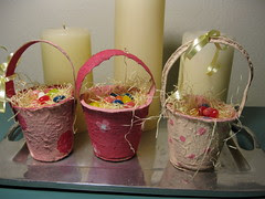 Mini Easter Baskets from Peat Pots
