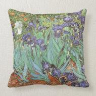 Irises by Vincent van Gogh throwpillow