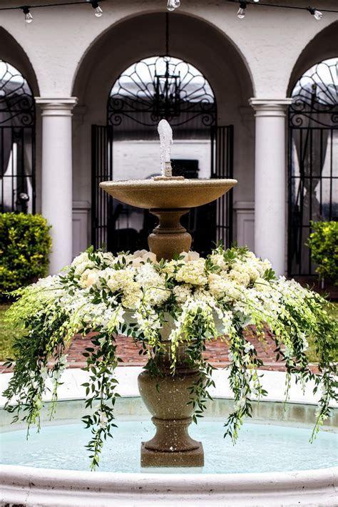 Crane Cottage Courtyard Fountain Decor   Wedding