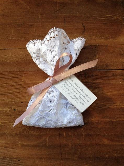 Custom Order: 100 lace favor bags with satin ribbons
