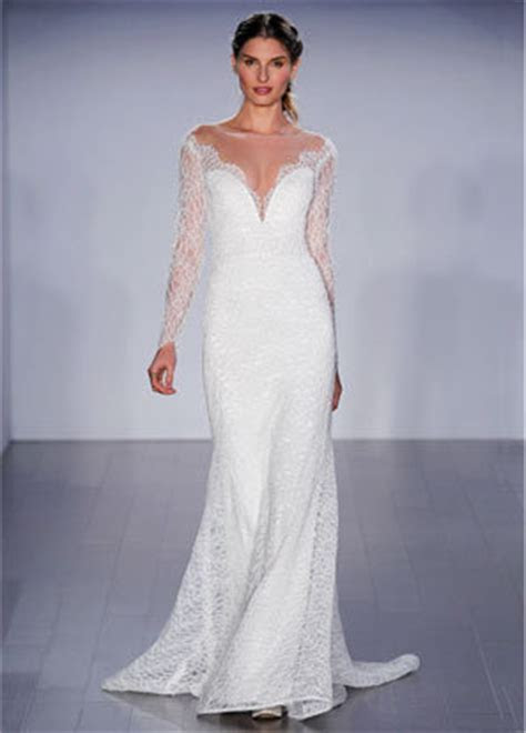 Long Sleeve A line Lace Wedding Dress   Kleinfeld Bridal