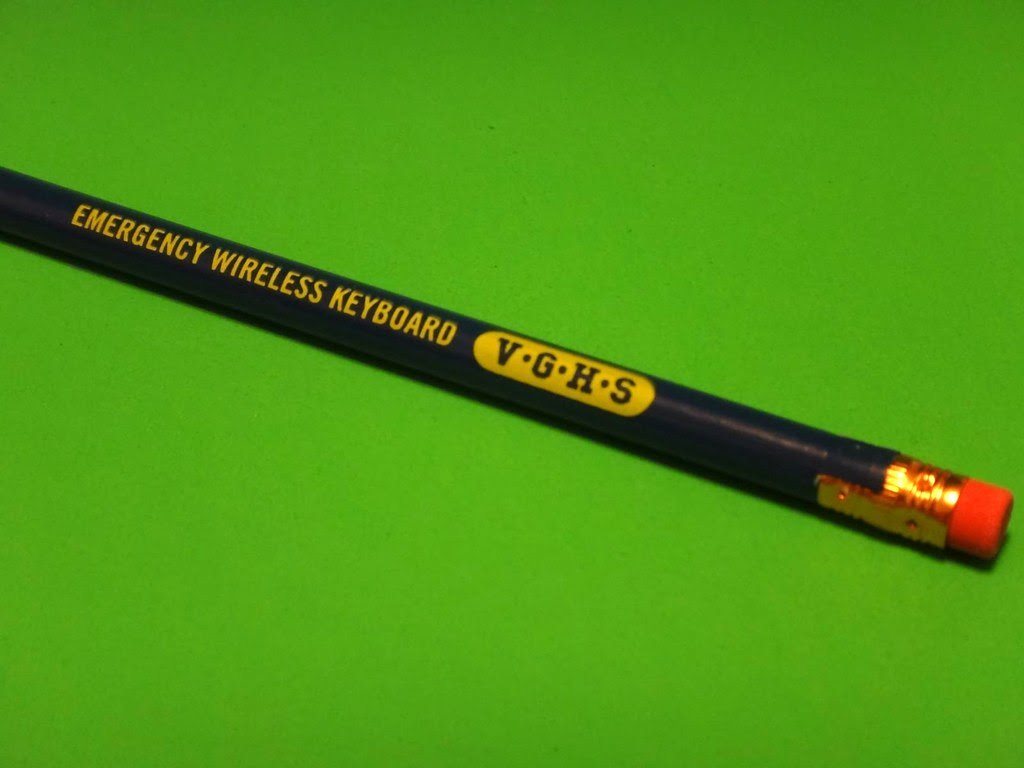 Loot Crate July 2013 Video Game High School emergency wireless keyboard pencil