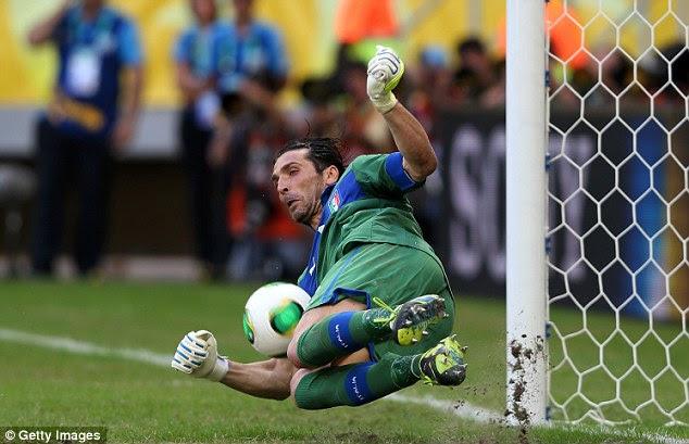 No 1: Buffon saves from Forlan