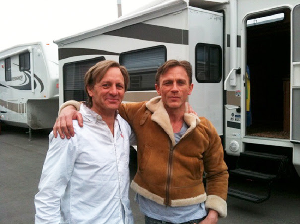 Daniel Craig And His Stunt Double Garvin Cross On The Set Of Dream House