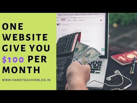 New Earning website 2019- ghar baithe $100 per month kmaao