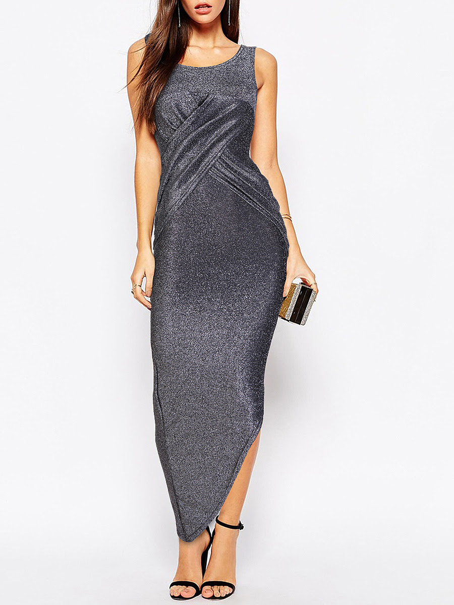 What are Off Shoulder Elastic Waist Plain Casual Dress george asda new look