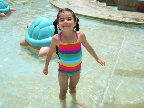 sasha in the pool