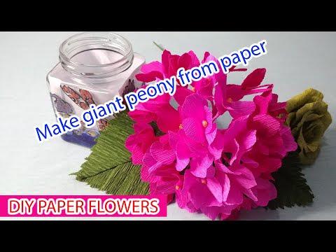 Làm bó hoa xinh xinh từ giấy cực đơn giản