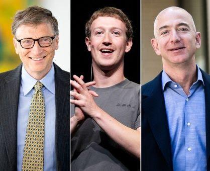 Bill Gates, Marck Zuckerberg y Jeff Bezos