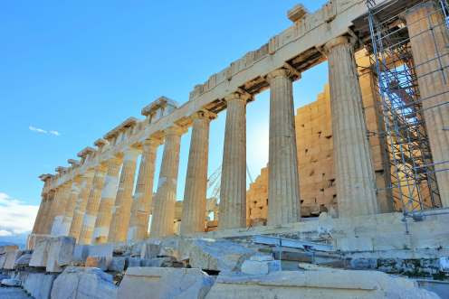 Parthenon at the Acropolis in Athens