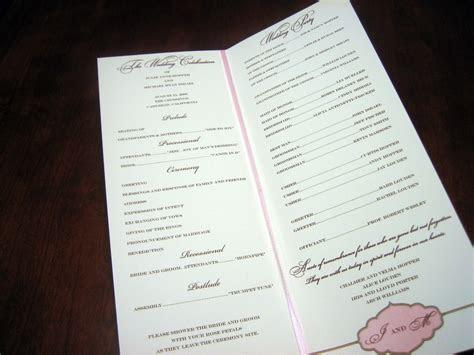 Ceremony Programs ? Page 2 ? A Vibrant Wedding