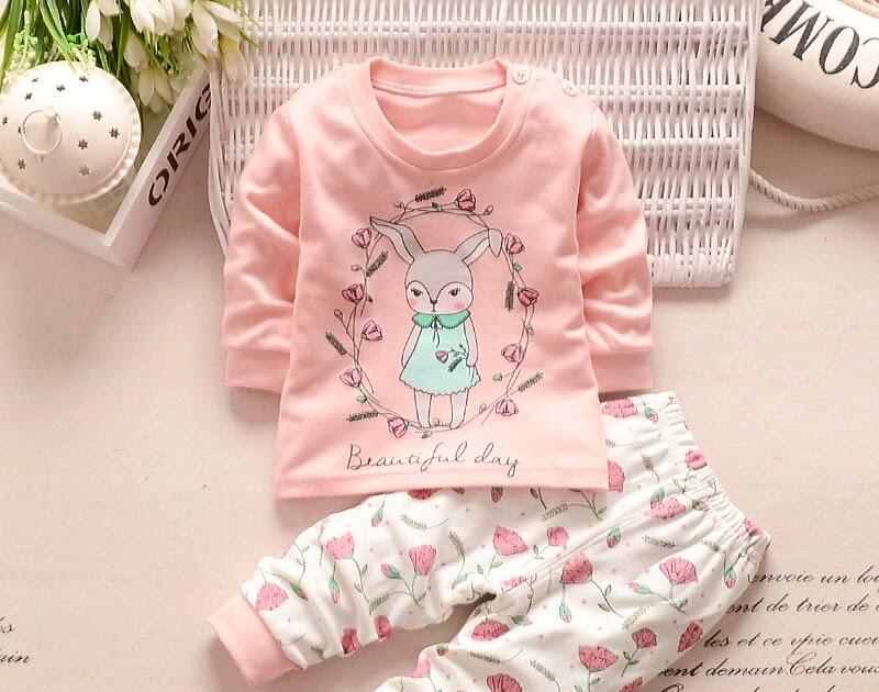 7933c6783 newborn baby girl clothes Autumn baby boy clothes set Long Sleeve Cute  rabbit Shirt+Pants 2pcs Cotton home service