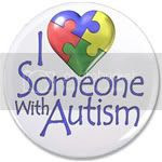 """I love someone with autism"" puzzle heart design"