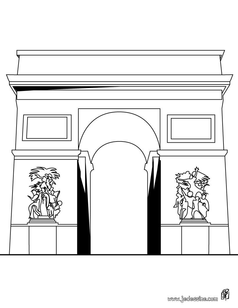 Coloriage Monuments Francais Coloriages Coloriage à Imprimer