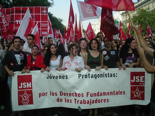 JSE y JSM en la manifestacion contra la Reforma Laboral del PP
