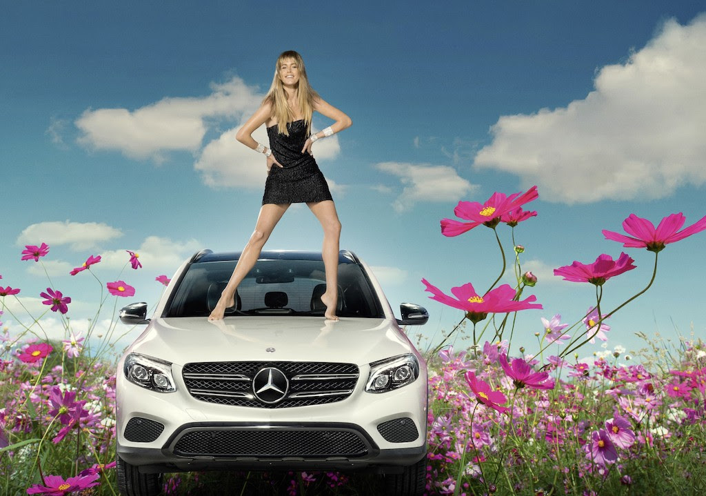 Doutzen Kroes In Modecampagne Mercedes Benz Femmefrontaal