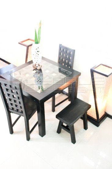 Cc Bat Stylish Set Up Dining Table 4 Seater With 2 Host Chairs And