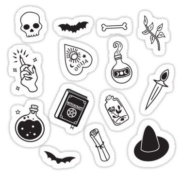 Aesthetic Black And White Stickers Printable