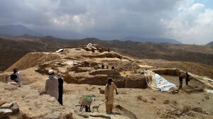 """The Mes Aynak site. (Image courtesy """"The Buddhas of Mes Aynak""""  by Brent Huffman"""