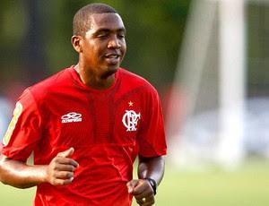 Renato Abreu no treino do Flamengo (Foto: André Portugal / Vipcomm)