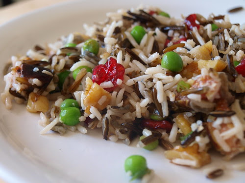 White and Wild Rice Salad with Walnuts, Cranberries, and Figs