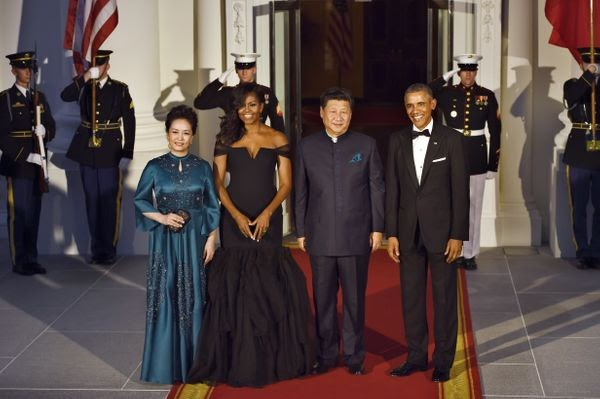 KINGDOM CHRONICLES: Michelle Obama Wows In Black Vera Wang Dress At State Dinner