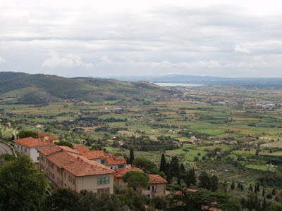 View of the countryside from Cortona