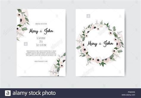 Wedding invite, invitation. Botanical wedding invitation
