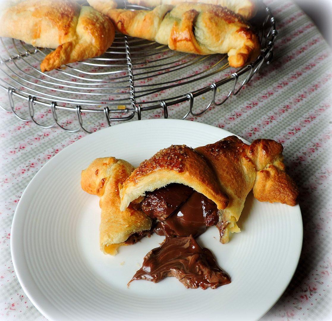 Chocolate & Caramel Stuffed Croissants