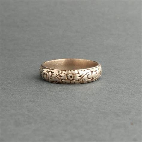Antique Mens Wedding Ring. 800 Silver. Late Georgian Early