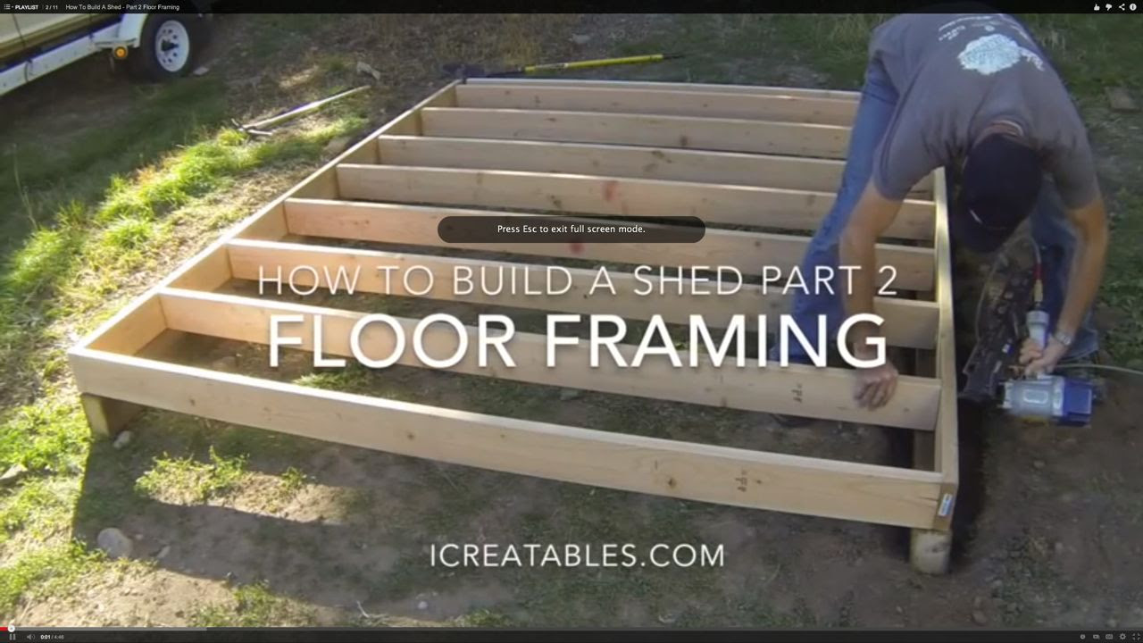 build a shed floor frame | Download
