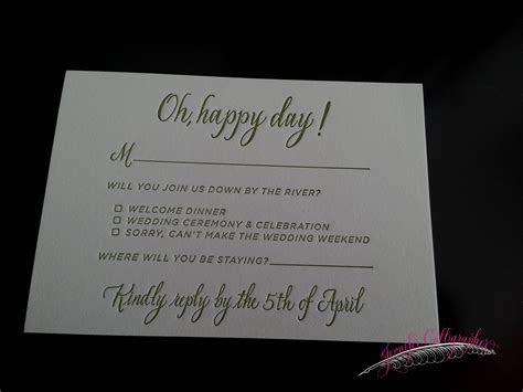 The Response Card   Jennifer Calligrapher