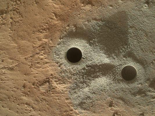 mars holes