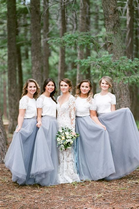 17 Best ideas about Two Piece Bridesmaid Dresses on